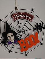 Hot Halloween Door Decorate Hanging Door Human Skeleton Witch Pattern Spider Net 13*13cm For Halloween Cosplay