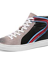 Women's Sneakers Spring / Fall / Winter Cowboy / Western Boots Suede Athletic / Casual Flat Heel Black/Gray Sneaker
