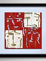 Ручная роспись Абстракция / Люди / фантазия / Абстрактные портреты Картины маслом,Modern / Реализм / Европейский стиль 1 панель Холст