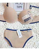 Full Coverage Bras & Panties SetsWireless Cotton
