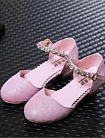 Синий / Розовый / Серебристый-Для девочек-Для прогулок / На каждый день-Полиуретан-На низком каблуке-На каблуках / С закрытым носком-