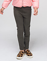 Girl's Casual/Daily Solid Pants / LeggingsPolyester / Spandex Winter / Spring / Fall Gray