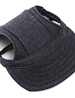 Chien Jeans / Bandanas & Chapeaux Noir Vêtements pour Chien Hiver / Printemps/Automne Fleur Décontracté / Quotidien
