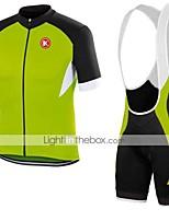 KEIYUEM® Cyklodres a kraťasy se šlemi Unisex Krátké rukávy Jezdit na koleProdyšné / Rychleschnoucí / Odolné vůči prachu / Nositelný /