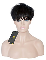 Human Hair Wigs for Black Women Pixie Cut short brazilian hair glueless Capless Wigs with full bangs