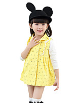 Girl's Casual/Daily Solid DressCotton Spring / Fall Blue / Red / Yellow