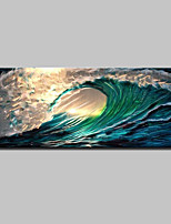 Large Size Hand Painted Abstract Sea Wave Oil Painting On Canvas Wall Art Picture With Stretched Frame Ready To Hang