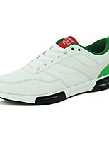 Masculino-Tênis-Conforto-Rasteiro-Verde Vermelho Preto e Branco-Courino-Ar-Livre Casual