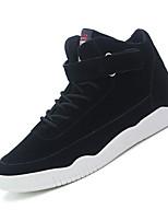 Черный / Красный / Серо-коричневый-Мужской-Для прогулок / На каждый день / Для занятий спортом-Замша-На низком каблуке-Удобная обувь-Кеды