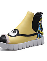 Women's Boots Winter Flats Leatherette Casual Flat Heel Others Yellow White Hiking Walking