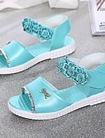 Girl's Sandals Summer Open Toe Casual Flat Heel Applique Blue / Pink Walking