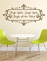 AYA DIY Wall Stickers Wall Decals gingle Bells Stickers 42*81cm