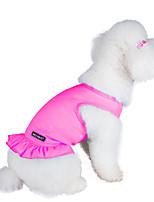 Коты / Собаки Платья Оранжевый / Лиловый / Розовый / Зелено-голубой Одежда для собак Лето Однотонный Мода