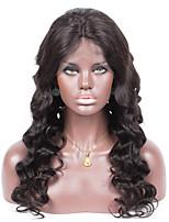 не не проливать не клубок рыхлый глубокий цвет 1b волны светло-коричневый швейцарский шнурок 130% плотность человеческих волос шелк база