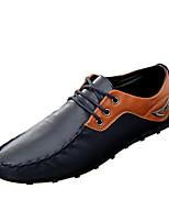 Men's Oxfords Spring / Fall Comfort PU Casual Flat Heel  Black / Brown / Black and White Sneaker