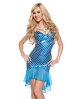 Cosplay Costumes / Party Costume Mermaid Tail Festival/Holiday Halloween Costumes Blue Animal Print Dress Halloween Female Terylene