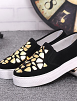 Women's Loafers & Slip-Ons Fall Platform Cotton Casual Platform Sequin Yellow White Others