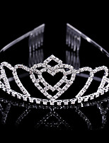 Fashion New-style Rhinestone Double Heart Shape Bride Hair Decoration