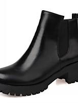 Feminino-Botas-Plataforma Botas Montaria Botas da Moda Inovador Botas de Cowboy Botas de Neve-Salto Grosso Plataforma-Preto Azul-Couro