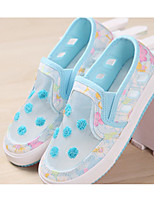 Girl's Flats Spring / Fall Comfort Tulle Outdoor / Casual Flat Heel Polka Dot Blue / Pink Walking