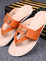 Men's Flats Spring Summer Mary Jane Rubber Casual Flat Heel Others Black Red White Walking