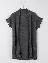 Girl's Casual/Daily Solid Sweater & CardiganCotton Fall Gray