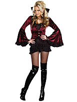 Costumes Vampires Halloween Black Print Terylene Dress / More Accessories