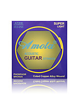 Amola AT100 011-050 Professional Strings Series Super Light Phosphor Bronze Acoustic Guitar Strings Guitar Strings