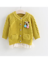 Girl's Casual/Daily Solid BlouseCotton Winter / Spring Pink / Purple / Yellow