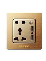 Champagne Gold With Dual Usb Sockets