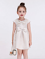Girl's Casual/Daily Solid DressCotton / Rayon Spring / Fall Beige
