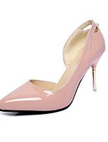 Damen-High Heels-Büro / Lässig-Leder-Stöckelabsatz-Absätze / Spitzschuh-Rosa / Weiß / Grau / Champagner