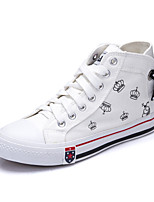 Women's Sneakers Spring / Fall Comfort Canvas Casual Flat Heel Lace-up Black / Blue / Red / White Others