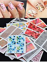 50pcs Стикер искусства ногтя Стразы для ногтей / 3D наклейки на ногти Цветы макияж Косметические Nail Art Design