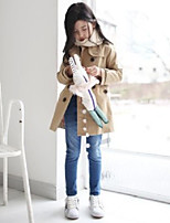 Girl's Casual/Daily Solid Trench CoatCotton Winter / Spring / Fall Gray