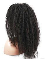 dentelle avant 6a perruques 100% brazilian cheveux humains vierges afro crépus 26 perruque frisée