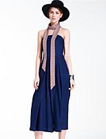 Goelia® Damen Mittlere Hüfthöhe Jeans Blau Bequem Hose-167R1O010