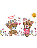 Wall Stickers Wall Decals Style Lovely Bear Lovers PVC Wall Stickers