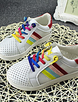 Unisex Sneakers Summer Comfort Tulle Casual Flat Heel Lace-up Red Others