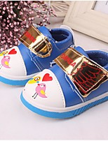 Unisex Flats Fall Comfort Casual Flat Heel Animal Print Blue / Yellow / Fuchsia Walking