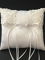 White 1 Ribbons Faux Pearl Embroidery Satin