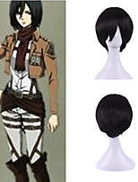 Janpanese Anime Silky Men Cosplay Halloween Natural Personality Brightly Black Short Costume Wig