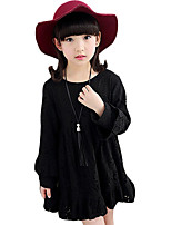 Girl's Casual/Daily Solid DressOthers Spring / Fall Black / Pink / Red