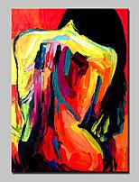 Ручная роспись Люди / Телесный / Абстрактные портреты Картины маслом,Modern 1 панель Холст Hang-роспись маслом For Украшение дома