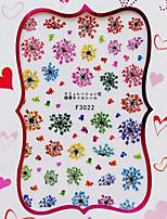 1 Стикер искусства ногтя 3D наклейки на ногти Цветы / Абстракция макияж Косметические Nail Art Design