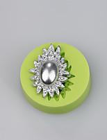 Elegant jewelry ellipse  shaped soft silicone molds wholesale cake cutter christmas cake decoration