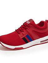 Черный Красный Серый-Мужской-Повседневный-Ткань-На плоской подошве-Удобная обувь-Кеды