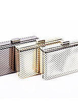 L.west Women Elegant High-grade Hollow Out Tin Box Evening Bag