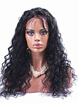 100% Natural Black Color Brazilian Virgin Human Hair Curly Lace Front Wig With Baby Hair