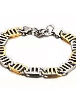 Titanium Gold Men Between Steel Bracelet Gift Box Packaging